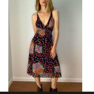 Vivienne Tam Polka Dot Floral Dress / XS